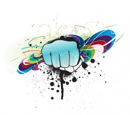 Grunge hand punch
