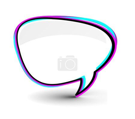 Illustration pour Illustration vectorielle d'icône de fenêtre Messenger isolée sur fond blanc - image libre de droit