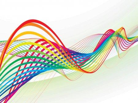 Illustration pour Ligne d'onde arc-en-ciel abstraite avec espace de votre texte, illustration vectorielle - image libre de droit