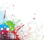Colourful bright ink splat design