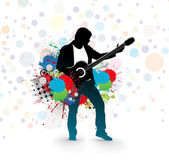 Men play a guitar