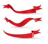 Red ribbons as red banners design vector illustration