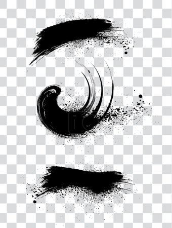 Illustration for Abstract black grunge frame background, vector illustration - Royalty Free Image