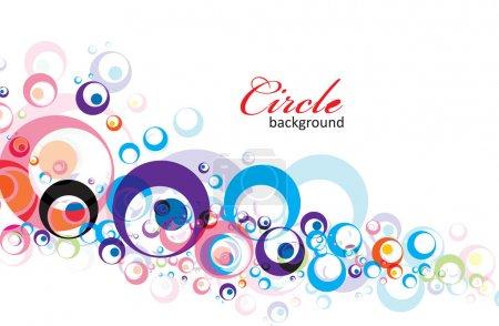 Illustration pour Intensif arc-en-ciel couleurs fond cercle avec eps8, illustration vectorielle . - image libre de droit
