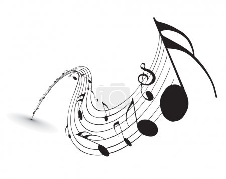 Music notes for design use, vector illustration...