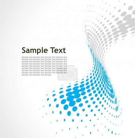 Illustration for Abstract blue wave halftone background - Royalty Free Image