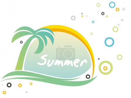 Illustration pour Modèle rétro estival abstrait pour le design . - image libre de droit