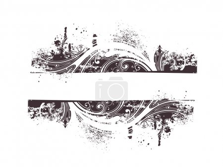 Illustration for Vector sample text & Grunge Floral Background - Royalty Free Image