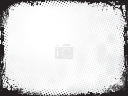 Illustration for Grunge frame with halftone background - Royalty Free Image