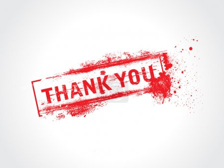 Illustration for Thank you - grunge text vector - Royalty Free Image