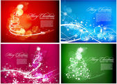 Christmas background set for poster design vector illustration