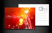 Christmas post card isolated on illustration background vector illustration