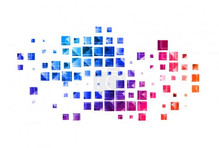 Illustration for Abstract colorful mosaic background, best used of your sample text background. - Royalty Free Image