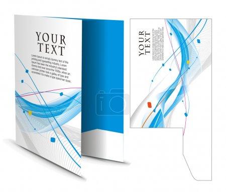 Photo pour Dossier corporatif avec die cut design, meilleur utilisé pour votre projet - image libre de droit