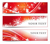 Abstract banners on christmas themes multi-coloured vector illustration