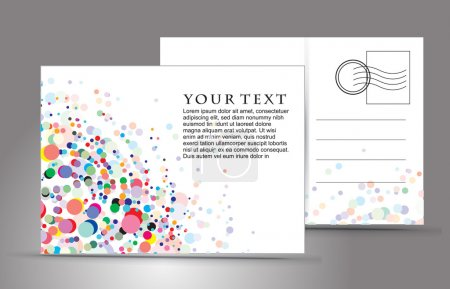 Illustration for Empty post card, isolated on illustration background, vector illustration - Royalty Free Image