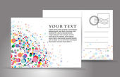 Empty post card isolated on illustration background vector illustration