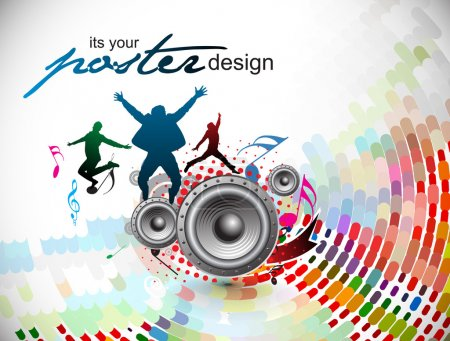 Photo for Abstract music background for music event design. vector illustration. - Royalty Free Image