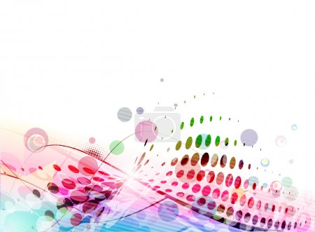 Illustration for Abstract colourful circle wave line background. - Royalty Free Image