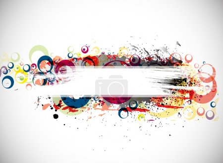 Illustration for Abstract colorful banner background with space of your text. eps10 Vector illustration. - Royalty Free Image