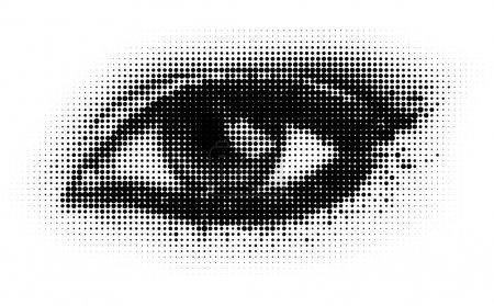 Illustration pour Oeil de points humains. eps8 illustration vectorielle . - image libre de droit
