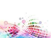 Abstract colorful circle wave line background