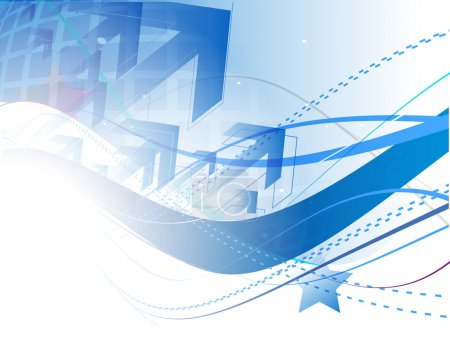 Photo pour Résumé vague bleue fond texture design . - image libre de droit