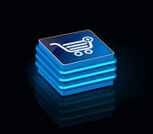 3d glossy shopping icon