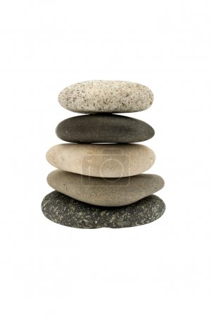 5 pebbles stacked