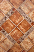 Closeup of terracotta ceramic tiles