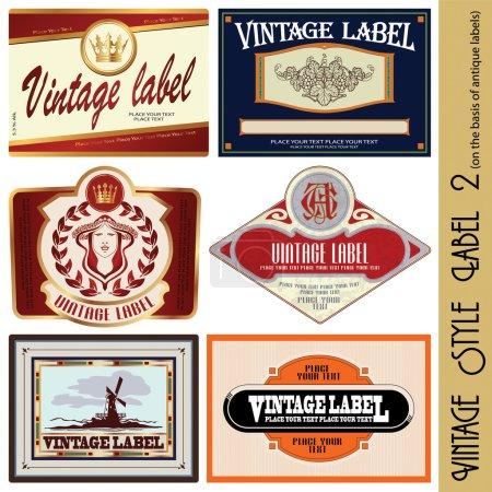 Illustration pour Étiquette de style vintage (sur la base des anciennes étiquettes) - image libre de droit