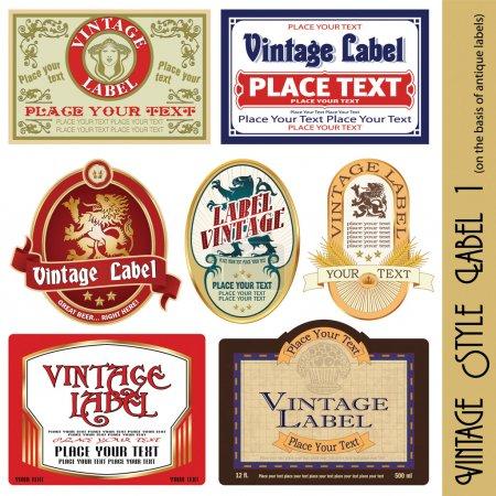 Ilustración de Etiqueta de estilo vintage (sobre la base de antiguas etiquetas) - Imagen libre de derechos