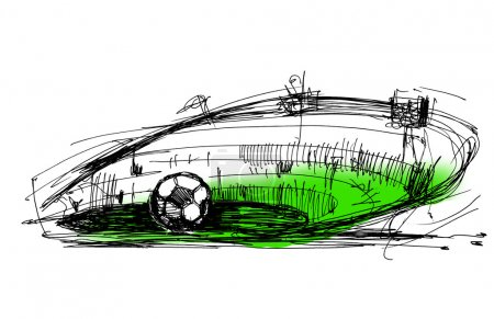 Sketch on a football