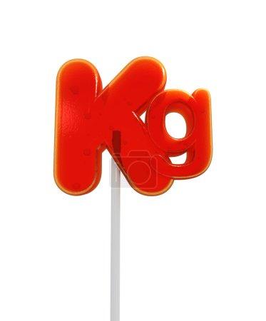 Kilo symbol lollipop
