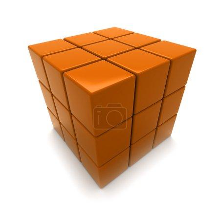 Orange cube puzzle