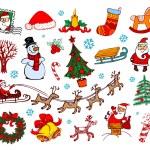 Set of vector Christmas ornaments...
