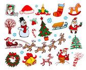 Set of vector Christmas ornaments