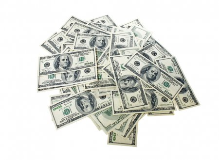 Photo for Heap of cash (100 dollars banknotes) - Royalty Free Image