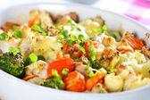 légumes mélangés au four