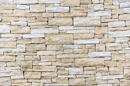 Wall made from sandstone bricks