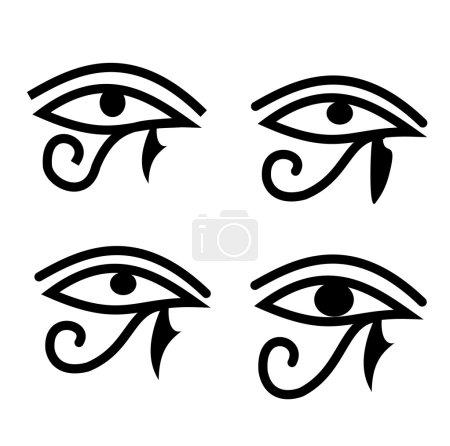 Photo pour Ensemble de quatre yeux d'Horus - symbole égyptien traditionnel - image libre de droit