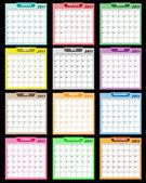 Kalendáře 2011, různé barvy
