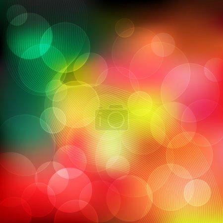 Illustration pour Fond abstrait avec des cercles colorés transparents en différentes couleurs. - image libre de droit