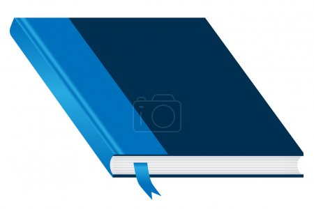 Blue book closed and bookmark