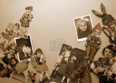 Foto de Fondo con niños e imágenes - Imagen libre de derechos