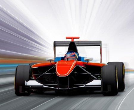 Photo pour Voiture de Formule 1 sur piste de vitesse - flou de mouvement - image libre de droit