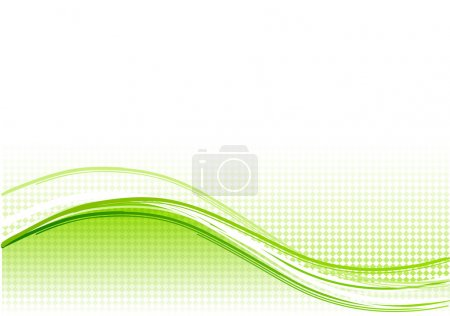 Illustration for Green wave background with lines - Royalty Free Image