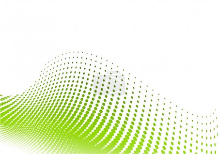 Illustration for Green halftone background on the white - Royalty Free Image