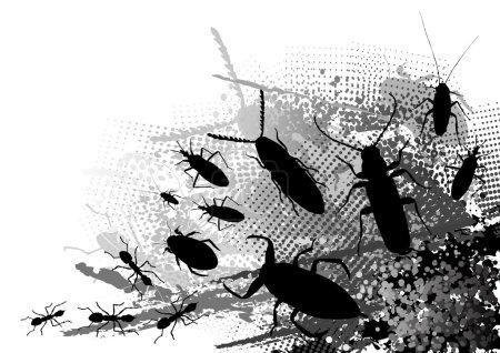 Illustration pour Insecte sur le fond sombre - image libre de droit