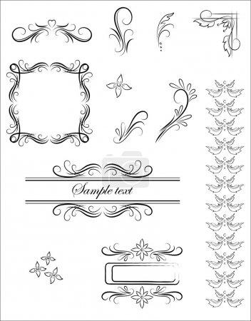 Illustration pour Modèle d'ornement vectoriel - image libre de droit